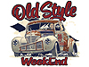 Old Style Weekend Foxwolde - Roden event promotion - posters and T-shirts