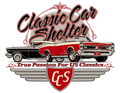 Classic Car Shelter Logo Design - Classic car design