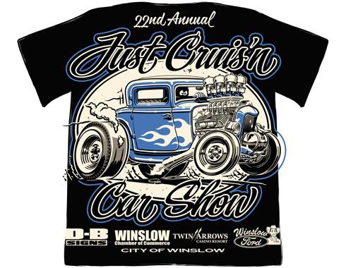 b9836fd49 Just Cruis'n Car Show - Winslow - T-shirt design